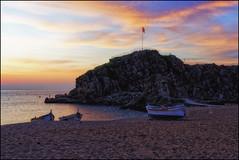 Sa Palomera Before Sunrise II   Blanes, Catalonia (Flemming J. Gade) Tags: sapalomera beforesunrise lowlight riock sea mediterranean sky clouds blanes catalonia