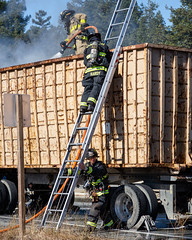 Truck Fire (Santa Cruz Films) Tags: firefighter firedepartment firefighting bomberos feuerwehr firetruck fireengine thinredline firefighters fireservice wildfire wildlandfirefighterpolice officer cops thinblueline policecar sheriff statetrooper tactical