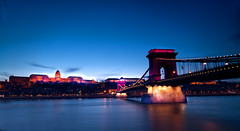 The Chain Bridge (johnsinclair8888) Tags: bridge budapest hungary bluehour longexposure 20mm nikon budacastle