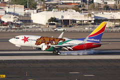 "N943WN, Boeing 737-700, Southwest Airlines ""California One"", Phoenix Int'l Airport (ColinParker777) Tags: n943wn boeing 737 73g 737700 b737 b737700 36913 3195 aircraft airplane plane aeroplane aviation landing touchdown runway smoke tyres tires bear star california one swa wn southwest airlines airways air kphx phx phoenix sky harbor harbour international airport usa united states america arizona spotting spotter canon 5dsr 200400 l lens zoom telephoto pro"