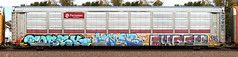 Fobek/Knab/Eyrek (quiet-silence) Tags: graffiti graff freight fr8 train railroad railcar art fobek knab eyrek hof vds autorack ferromex ttgx705588