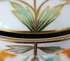 Lid above the bowl - Limoges (Monceau) Tags: limoges lid bowl leaves macromondays lids green gold porcelain