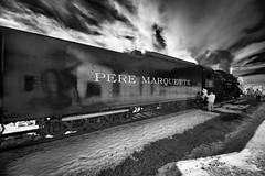 _DSC3386 Piere Marquette 1225, Ashley MI (Charles Bonham) Tags: peremarquette1225 ashleymi northpoleexpress infrared blackandwhite sonya7r laowazerod12mmf28 tracks steamrailroadinginstitute charlesbonhamphotography