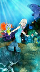 Trina and her baby seal Flip (custombase) Tags: schleich bayala mermaid seal dolphin toyphotography
