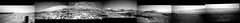 Gale Crater Panorama, Mid-November 2019, variant (sjrankin) Tags: 18november2019 edited grayscale nasa mars msl curiosity galecrater sky haze rocks dust panorama mountsharp mountains