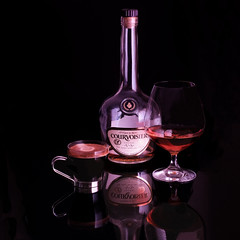 cognac and espresso (-liyen-) Tags: stillife cognac coffee espresso onblackbackground fujixgt2 matchpointchampion mpt762