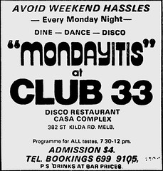 September1979no45 (mat78au) Tags: september 1979 melbourne newspaper extracts club 33 late 1970s disco venue sept 79 melb