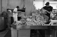 Bagels in the basket (photofiend358) Tags: bagels food bread ottawa kettlemans environmentalportrait foodindustry baking blackandwhite