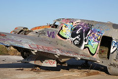 N7251C, Lockheed PV-2D Harpoon, Chandler Memorial Airport - Arizona (ColinParker777) Tags: n7251c lockheed pv2 pv2d harpoon aircraft aeroplane plane 151516 graffitti graffiti vandal vandalise vandalism abandoned parked stored war classis warbird chandler memorial airport airfield arizona usa united states america canon 5d mk3 mkiii mark3 markiii 24105 l lens