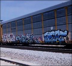 toenr - enter - flert (timetomakethepasta) Tags: toenr enter flert aub 38k freight train graffiti art ferromex autorack