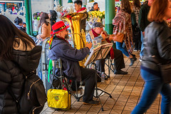 Market Performers (KPortin) Tags: musicians crowd farmersmarket seattle