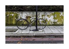 Locked Cycle © (wpnewington) Tags: cycle bike bicycle decay london yellow magenta