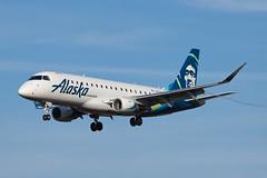 Alaska Airlines (Horizon Air) Embraer ERJ-175 N631QX (jbp274) Tags: sba ksba airport airplanes alaskaairlines horizonair horizon qx embraer erj175 e175