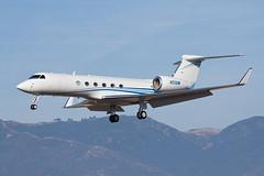 Private (Jet Force V) Gulfstream G-V N55BM (jbp274) Tags: sba ksba airport airplanes bizjet gulfstream