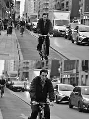 [La Mia Città][Pedala] (Urca) Tags: milano italia 2018 bicicletta pedalare ciclista ritrattostradale portrait dittico bike bicycle nikondigitale tina biancoenero blackandwhite bn bw 2018101565