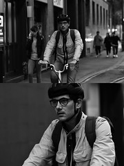 [La Mia Città][Pedala] (Urca) Tags: milano italia 2018 bicicletta pedalare ciclista ritrattostradale portrait dittico bike bicycle nikondigitale tina biancoenero blackandwhite bn bw 2018101560