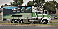 Kenworth Budget Tennis Courts at Tooradin (secret squirrel6) Tags: secretsquirrel6truckphotos craigjohnsontruckphoto australiantrucks bigrigs worldtrucks trucks truckphotos truckshow tennis tenniscourts 2018 tooradin kenworth advertising chrome