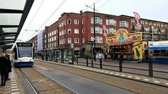 Lijn 13 en Bollen (Peter ( phonepics only) Eijkman) Tags: amsterdam city combino gvb oliebollen tram transport trams tramtracks trolley rails rail strassenbahn streetcars netherlands nederland nederlandse noordholland holland