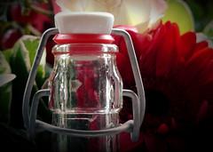 no plastic, the best lid ever! HMM! (BrigitteE1) Tags: macromondays lids macro glas bottle red green noplastic reusable ecofriendly