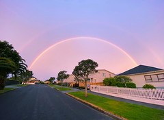 Iridescent Rainbow (Lucid Dreamer ♥) Tags: rainbow iridescent amazing beautiful double perfect glorious sunset high arch