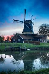 Pelmolen Rijssen (l-vandervegt) Tags: 2019 nikon d3200 tamron nederland netherlands holland niederlande paysbas overijssel twente rijssen molen pelmolen mill reflectie reflection sunset zonsondergang