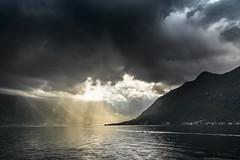 When the sun meet the rain (Sizun Eye) Tags: kotor montenegro bay clouds dramatic moody rays sunrays sizuneye sonyfe1635mmf28gm sony7rm2 sony