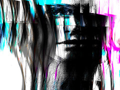 she looks at you (j.p.yef) Tags: peterfey jpyef yef people youngwoman theresa digitalart photomanipulation girl abstract abstrakt elitegalleryaoi bestcapturesaoi aoi
