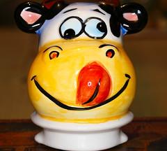 Macro Monday - Lids.   The lid to my cow-shaped teapot.    IMG_0668 (alisonhalliday) Tags: macromondays lids teapot ceramic macro closeup canoneosrp canon canonef100mmf28lmacroisusm yellow cmwdyellow cmwd colorfulworld