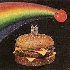 aaf (woodcum) Tags: space stars cosmos cosmic rainbow apple burger fastfood people surrealism surreal retro vintage dark minimalism woodcum dream scifi dope digital popsurrealism