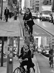 [La Mia Città][Pedala] (Urca) Tags: milano italia 2018 bicicletta pedalare ciclista ritrattostradale portrait dittico bike bicycle nikondigitale tina biancoenero blackandwhite bn bw 2018101568