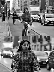 [La Mia Città][Pedala] (Urca) Tags: milano italia 2018 bicicletta pedalare ciclista ritrattostradale portrait dittico bike bicycle nikondigitale tina biancoenero blackandwhite bn bw 2018101567