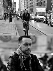 [La Mia Città][Pedala] (Urca) Tags: milano italia 2018 bicicletta pedalare ciclista ritrattostradale portrait dittico bike bicycle nikondigitale tina biancoenero blackandwhite bn bw 2018101566