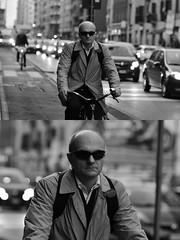 [La Mia Città][Pedala] (Urca) Tags: milano italia 2018 bicicletta pedalare ciclista ritrattostradale portrait dittico bike bicycle nikondigitale tina biancoenero blackandwhite bn bw 2018101561
