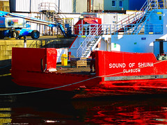 Scotland Greenock the ship repair dock the car ferry Sound of Shuna with its bow ramp removed 15 November 2019 by Anne MacKay (Anne MacKay images of interest & wonder) Tags: scotland greenock ship repair dock car ferry sound shuna 15 november 2019 picture by anne mackay