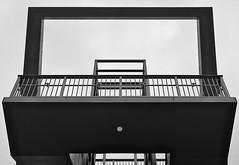 Abstract Staircase (hermann.kl) Tags: köln cologne rheinauhafen severinsbürcke schwarzweis blackandwhite treppe staircase abstrakt abstract