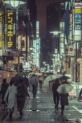 Japan - Tokyo (SergioQ79 - Osanpo Photographer -) Tags: japan tokyo akasaka rain umbrella nikon d7200 night light street people 2019