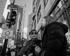 Chestnut Street, 2018 (Alan Barr) Tags: philadelphia 2018 chestnutstreet interaction street sp streetphotography streetphoto blackandwhite bw blackwhite mono monochrome candid city people panasonic gx85