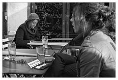 DSCF5452 (srethore) Tags: photo de rue street bw candid people meike 35mm