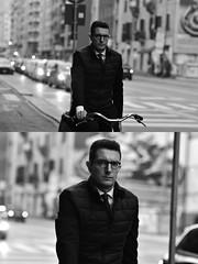 [La Mia Città][Pedala] (Urca) Tags: milano italia 2018 bicicletta pedalare ciclista ritrattostradale portrait dittico bike bicycle nikondigitale tina biancoenero blackandwhite bn bw 2018101564