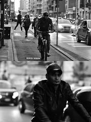 [La Mia Città][Pedala] (Urca) Tags: milano italia 2018 bicicletta pedalare ciclista ritrattostradale portrait dittico bike bicycle nikondigitale tina biancoenero blackandwhite bn bw 2018101563