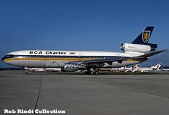 BCA Charter (British Caledonian) DC-10-10 G-BJZD (planepixbyrob) Tags: british britishcaledonian mcdonnelldouglas douglas dc10 dc1010 gbjzd lgw london gatwick retro kodachrome
