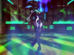 DRUNE DISCO DIVA (Rachel Swallows Inworld Elenamicheals Core) Tags: alien azoury boots chrislion cyber cyberborg drune fashion fetish latex romp sciencefiction scifi secondlife stargazercreations thighhigh wiccasoriginals wicca