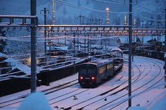 Kandersteg im Winter (Nice Day) Tags: kandersteg winter zug train light