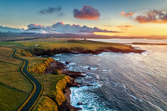 """Mullaghmore Peninsula"" (Gareth Wray - 13 Million Views, Thank You) Tags: classiebawn castle mullaghmore valley benbulben dji phantom 4 four pro p4p drone uav aerial ben bulben county sligo mountain snowcapped snow capped winter frozen 2019 hill cliff landscape scape donegal ireland irish nature natural tourist site visit gareth wray photography sky sun photographer mountains walk stack table top dartry benbulbin grange day vacation country house manor lord mountbatten cliffoney holiday europe bulbin wild atlantic way route sunset scenic cliffony"