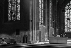 Bremen (D), look at the bleu color in the windows (ger.willemse) Tags: bremen hassy color xcd 45 x1d bw church dom man windows