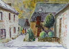 Moulin de Saint Yves (christian angué) Tags: moulin scorff vieille maison architecture dessin croquis aquarelle morbihan bretagne