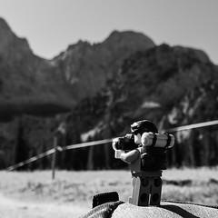 view to Torscharte (genelabo) Tags: lego minifigure schwarz weiss black white rontal karwendel bayern bavaria hiking wandern wanderung square quadrat alpenpark torscharte rohntalalm hinterris alpen berge mountains alps view blick