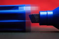 "Macro Monday theme ""Lids"" (Geolilli) Tags: marker lid blue red movement gesture macro writing utensils uncap canon 100mm28 100mm macromondays mondays"