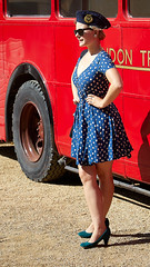 Goodwood Glamour (Bernie Condon) Tags: goodwood goodwoodrevival vintage preserved british uk greatbritain sussex woman sexy glamour