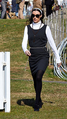 Goodwood Glamour (Bernie Condon) Tags: goodwood goodwoodrevival vintage preserved british uk greatbritain sussex woman sexy legs glamour